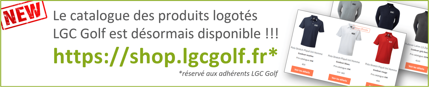 Catalogue LGC Golf
